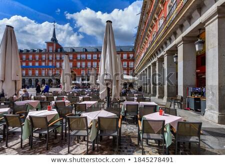 Plaza Mayor Cityscape Towers Madrid Spain Stock photo © billperry