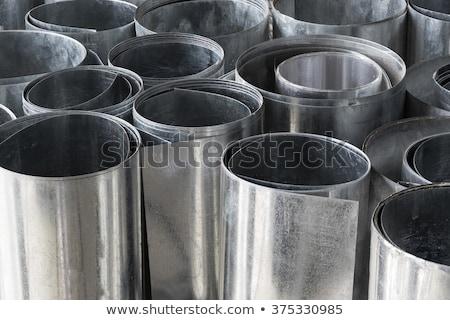 Metal · levha · galvanize · katlanmış · inşaat · duvar - stok fotoğraf © emirkoo