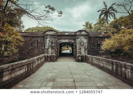 Spaans stijl entree manier architectuur zuidwest Stockfoto © emattil