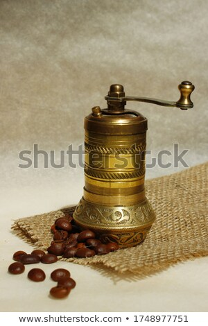 turkish coffee with grinder and beans stock photo © intheflesh