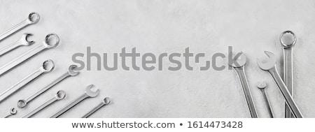 Mechanik narzędzia zestaw odizolowany biały Zdjęcia stock © Anterovium