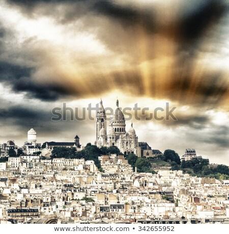 базилика сердце Париж Монмартр холме Сток-фото © aladin66