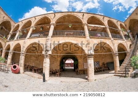 Posada entrada Chipre edificio piedra Foto stock © Kirill_M