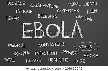 Word Cloud on a blackboard - Ebola Stock photo © Zerbor