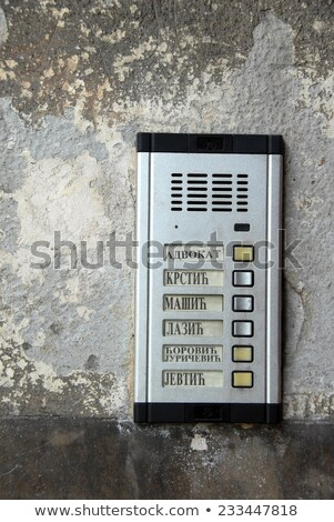 Interphone with serbian surnames Stock photo © simply