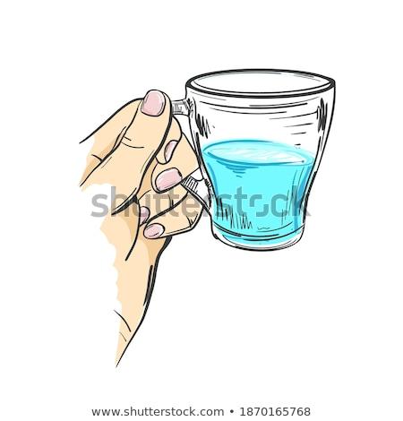 Sketch beaker in flat style Stock photo © kali