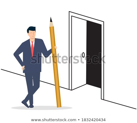 Young man standing at Career Ahead sign Stock photo © stevanovicigor