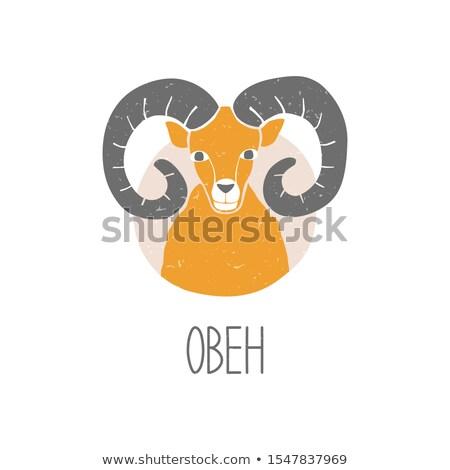 Aries icon. Vector illustration Stock photo © aliaksandra