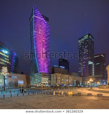 Варшава · после · полудня · солнце · строительство - Сток-фото © filipw