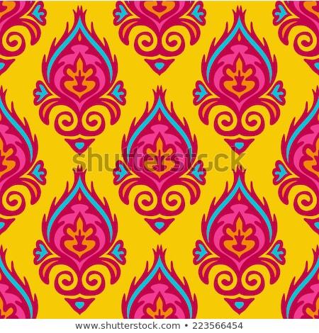 Indian Fanfare Motive Textur Baum abstrakten Stock foto © morrmota