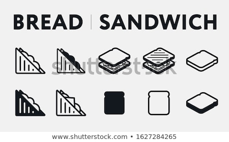 White bread toast icon with cheese Stock photo © aliaksandra