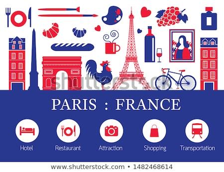 harita · bayrak · Fransa · futbol · arka · plan · kırmızı - stok fotoğraf © mayboro1964
