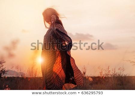Naturaleza nina verde mujer belleza verano Foto stock © Vg