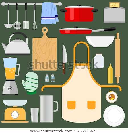 keuken · alledaags · tools · kobalt · vierkante - stockfoto © mr_vector