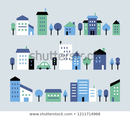 town house colorful Stock photo © tracer