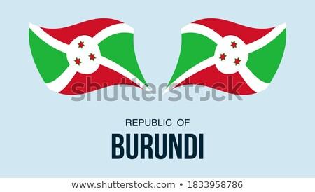 Foto stock: Mapa · bandeira · botão · república · Burundi · vetor