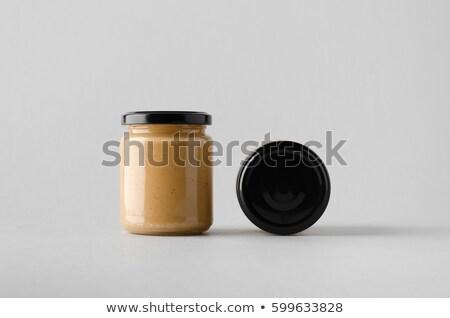 Foto stock: Vidro · jarra · isolado · branco · fruto