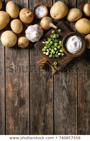 Farm fresh washed whole potatoes Stock photo © juniart