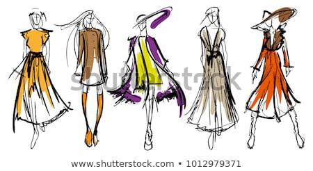 Woman fashion design. Vector illustration Stock photo © Morphart