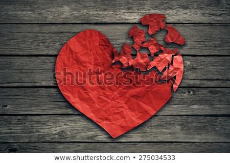 heart disease torn paper stock photo © ivelin