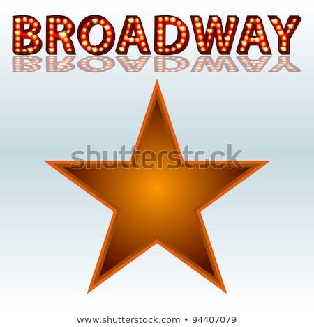 Színpadi fények Broadway szöveg kép 3D Stock fotó © cteconsulting