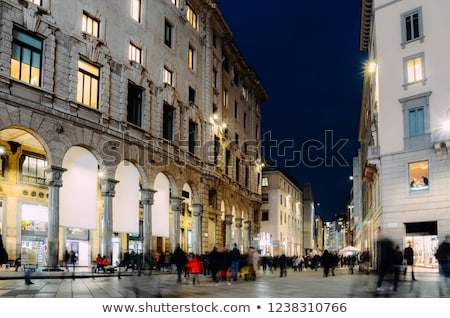 Corso Vittorio Emanuele II and Piazza San Babila in Milan, Italy Stock photo © anshar