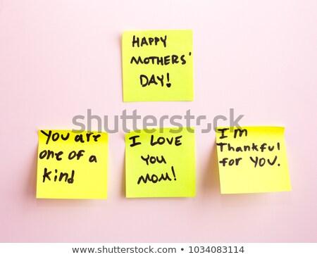mutlu · babalar · günü · yapışkan · not · mantar · tahta · kâğıt - stok fotoğraf © ivelin