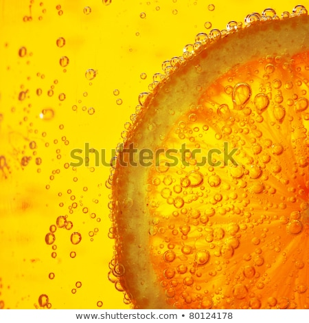 Glass of pure water with ice cubes and lemon slice Stock photo © karandaev
