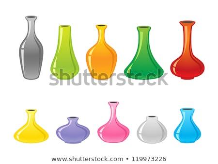 Set vaso icona grigio colori design Foto d'archivio © aliaksandra