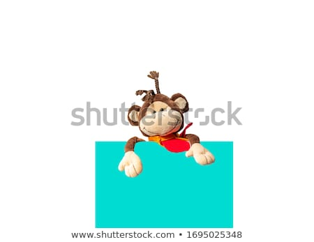 rajz · majom · nyakkendő · illusztráció · boldog · állat - stock fotó © orensila