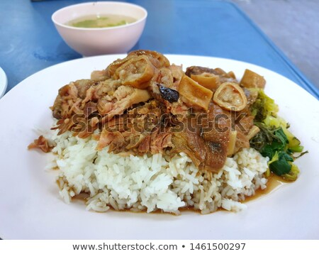 Fresh pork chitterlings ready to be grill Stock photo © art9858