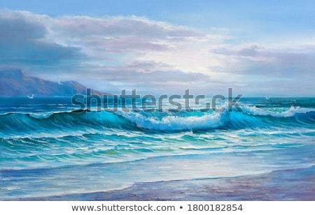 Modern óceán szörf absztrakt óceán hullám kép Stock fotó © nicemonkey