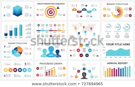 trabajo · en · equipo · 4 · personas · grupo · círculo · infografía - foto stock © joseph_arce