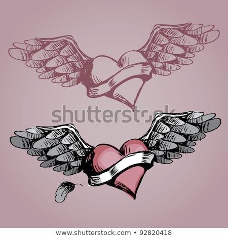 8 Grunge hearts Stock photo © PokerMan