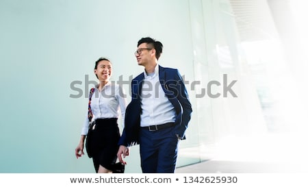 asian · homme · d'affaires · femme · portrait · blanche - photo stock © elwynn