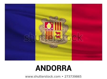 waving flag of andorra stock photo © mikhailmishchenko