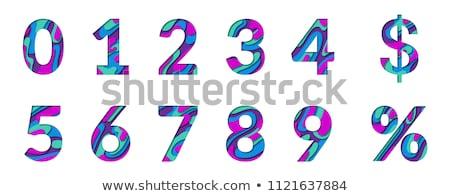 Sayılar sıfır dokuz bir altın sarı Stok fotoğraf © JFJacobsz