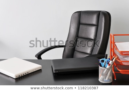 Iki siyah ofis koltuğu plastik nesne Stok fotoğraf © ozaiachin