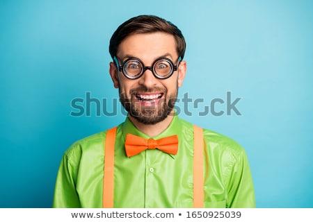 Diák visel szemüveg csokornyakkendő fehér iskola Stock fotó © wavebreak_media