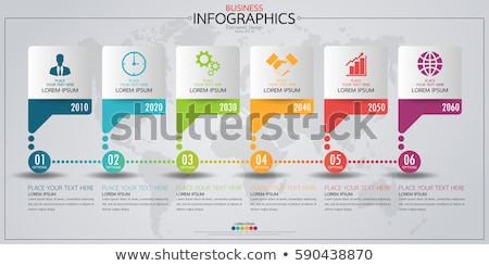 modern vector abstract line chart infographic elements stock photo © jiunnn
