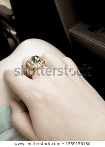 Hand on classic ruby ring Stock photo © nalinratphi