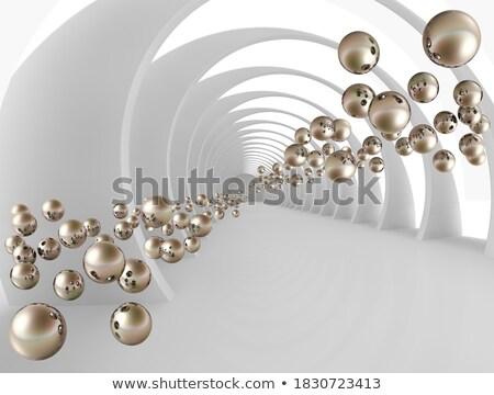 Elegante túnel 3D metálico 3d Foto stock © teerawit