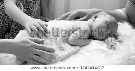 Stockfoto: Geboren · mannelijke · illustratie · jongen · baby · vader