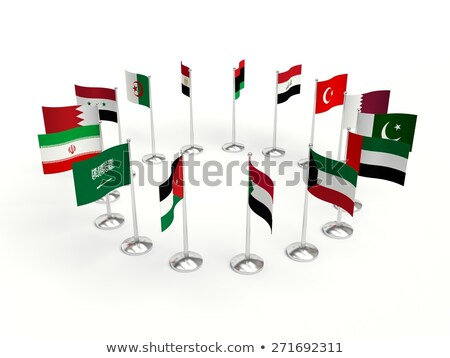 Emirados Árabes Unidos Líbia bandeiras quebra-cabeça isolado branco Foto stock © Istanbul2009