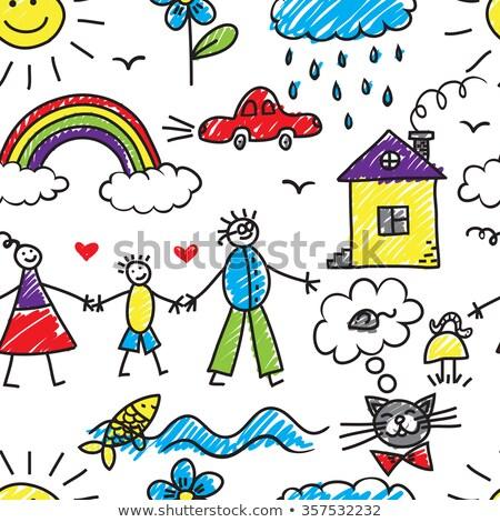 kézzel · rajzolt · szeretet · történet · illusztráció · kitűnő · eps - stock fotó © netkov1