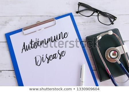 Diagnostic diabète écrit presse-papiers hôpital médecine Photo stock © Zerbor