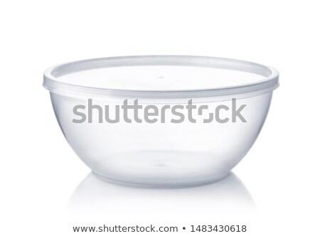 Plástico branco tabela vermelho limpar Foto stock © shutswis