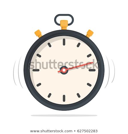 Stopwatch Geel vector icon knop ontwerp Stockfoto © rizwanali3d