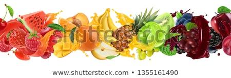 vers · appelsap · glas · rijp · vruchten · transparant - stockfoto © morphart