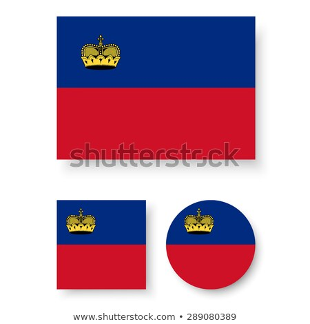 Square icon with flag of liechtenstein Stock photo © MikhailMishchenko